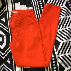 Refuge Brand Orange Skinny Jeans